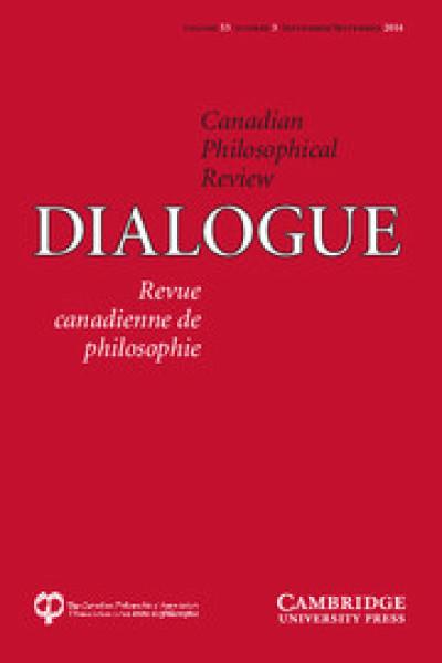Numéro spécial de Dialogue (vol. 53 no. 3), Revue canadienne de philosophie
