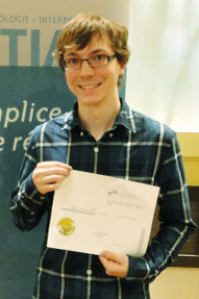 Simon Beaulieu Gélinas, étudiant au baccalauréat en traduction professionnelle de l'UdeS
