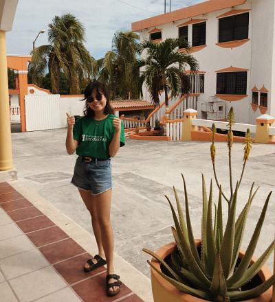 Mélissa Niravong, étudiante à la maîtrise de professionnalisation en écologie appliquée, À Chetumal, au Mexique.