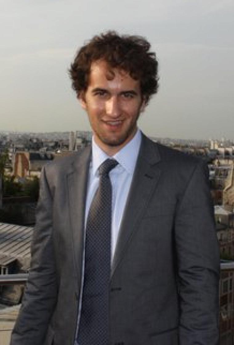 Guillaume Poirier, lors d'un voyage d'études à Paris à l'été2011.