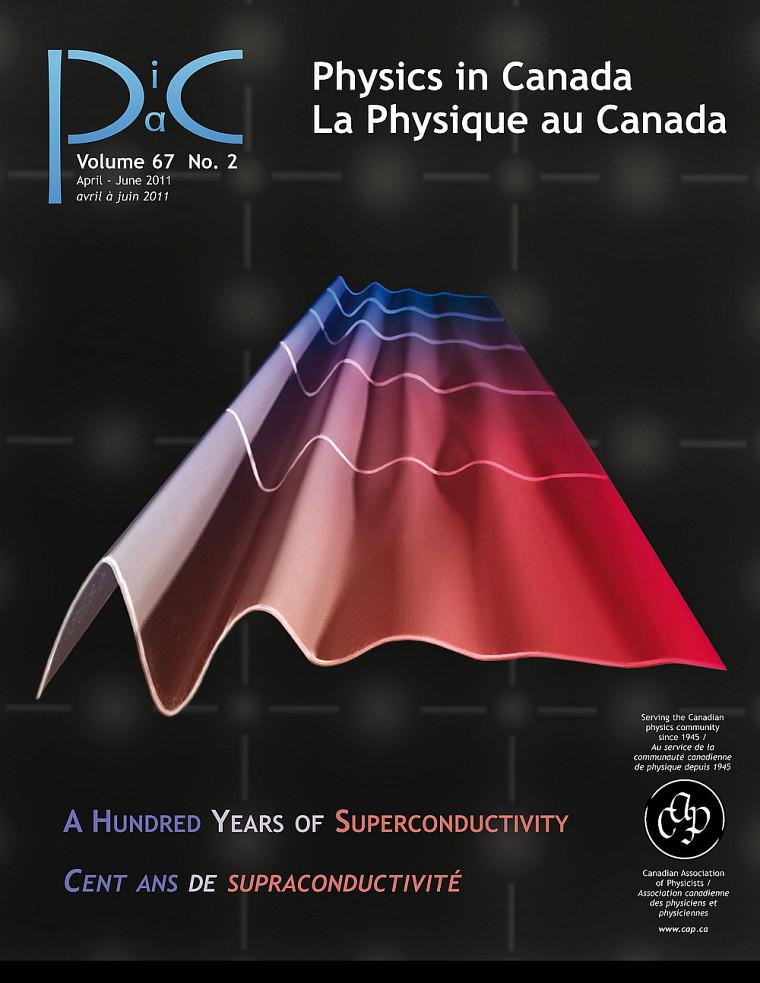 Couverture de La Physique au Canada qui souligne les cent ans de supraconductivité (avr.-juin 2011)