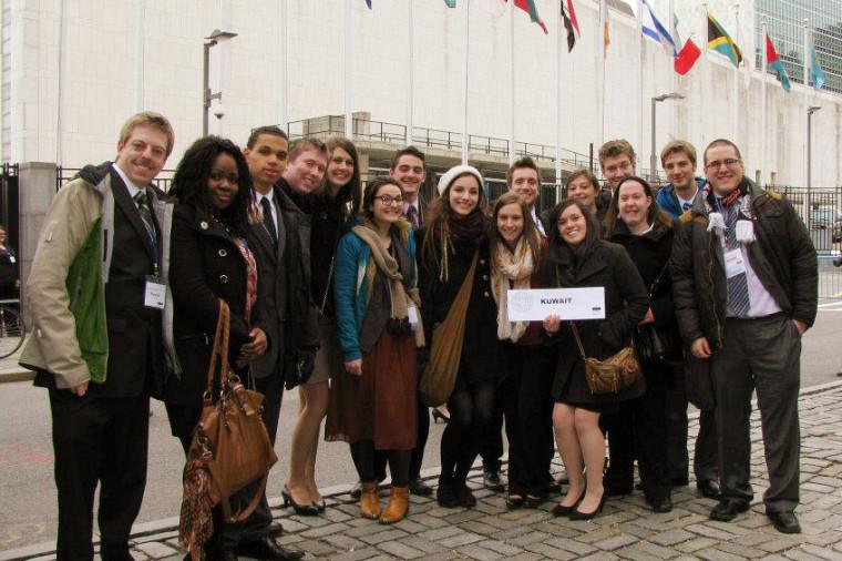 La délégation 2013 de l'École de politique appliquée de l'Université de Sherbrooke au National Model United Nations
