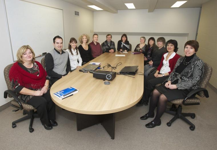 Les membres de l'équipe du projet de refonte du SIIG.Photo : Michel Caron