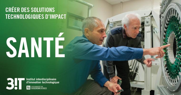 Plusieurs chercheurs interdisciplinaires collaborent à l'élaboration de scanners, dont le PrRoger Lecomte de la Faculté de médecine et des sciences de la santé.
