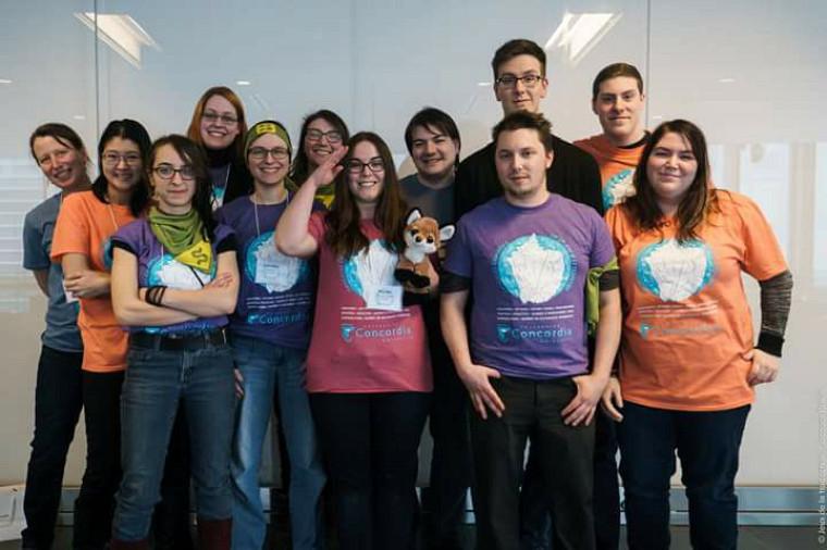 La délégation de l'Université de Sherbrooke aux Jeux de la traduction 2017