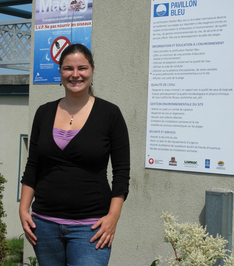 Valérie Leblanc, diplômée de la maîtrise en environnement de l'UdeS.