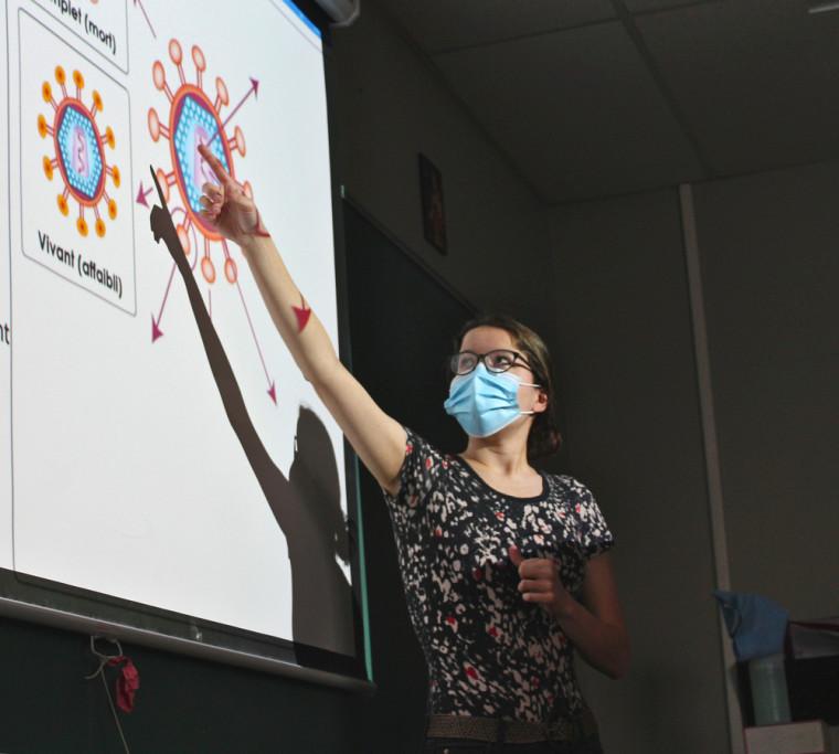 Andréa Courcy,attachée à la promotion de la science au RECSUS