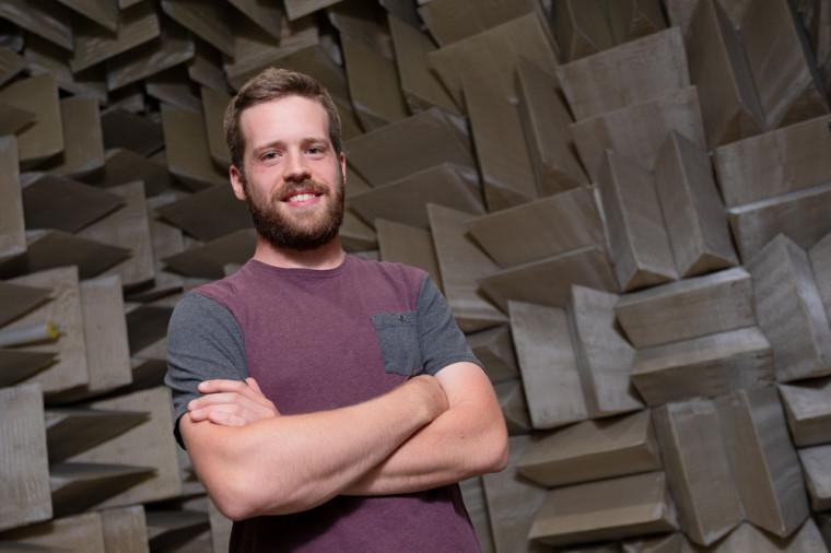 Maxime Bilodeau, étudiant au doctorat au Groupe de recherche en acoustique de l'Université de Sherbrooke