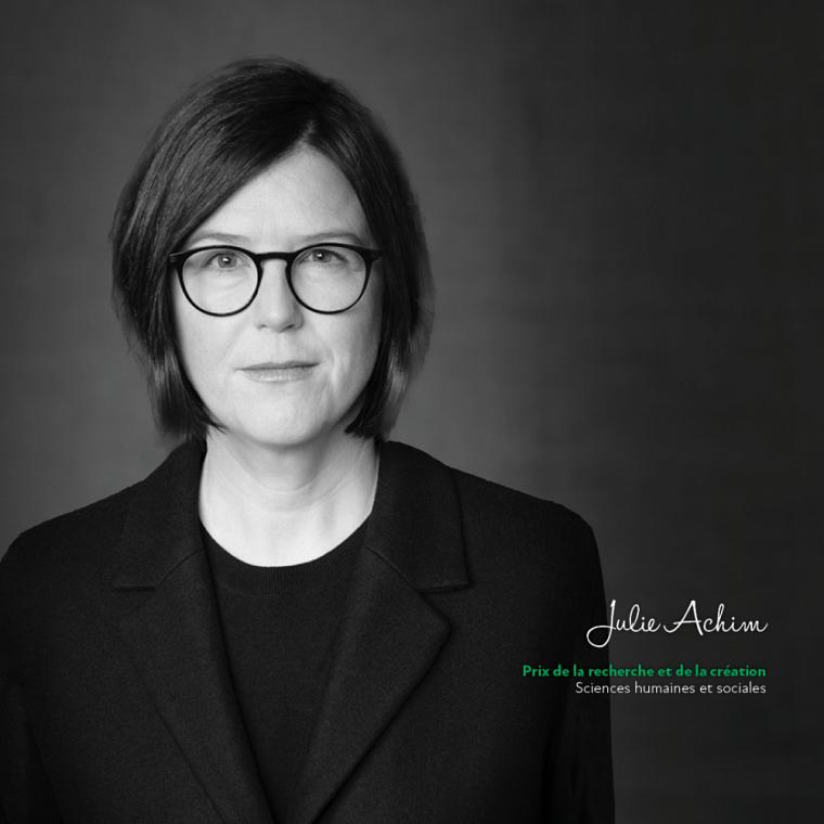 Julie Achim, du Département de psychologie, remporte le Prix de la recherche et de la création dans la catégorie Sciences humaines et sociales