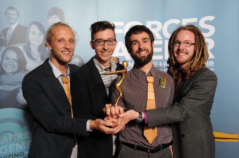 L'équipe de La Fabrique a remporté le prix de projet par excellence lors du dernier Gala Forces Avenir