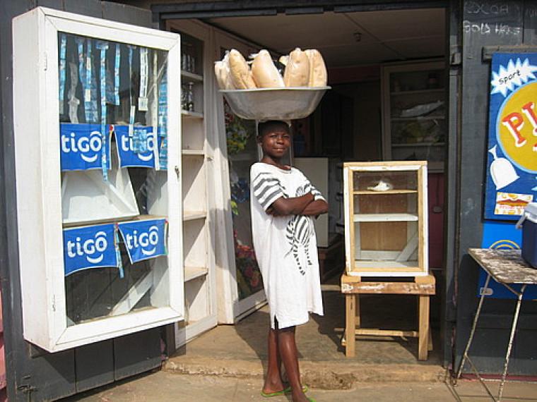 Une marchande de pain