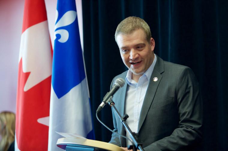 Le député de Sherbrooke et ministre responsable de la région de l'Estrie, Luc Fortin