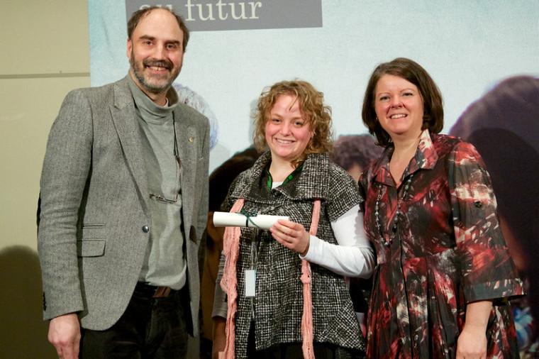 Constance Denis a décroché le premier prix pour son affiche intitulée Élèves atteints de dyslexie: quelles sont les pratiques au secondaire?