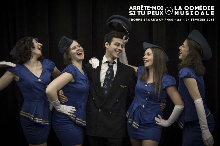 En 2018,Broadway FMSS présentera l'intrigante comédie musicaleArrête-moi si tu peux au Centre Culturel de l'Université de Sherbrooke.