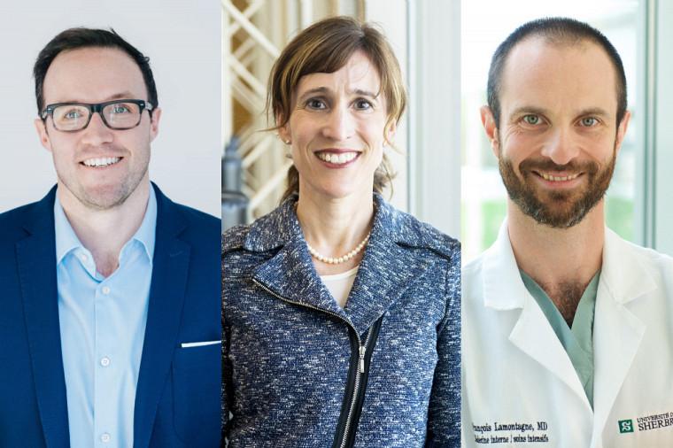 Maxime Descoteaux, Catherine Hudon et François Lamontagne comptent parmi les 51nouveaux membres du Collège de nouveaux chercheurs et créateurs en arts et en science de la Société royale du Canada.