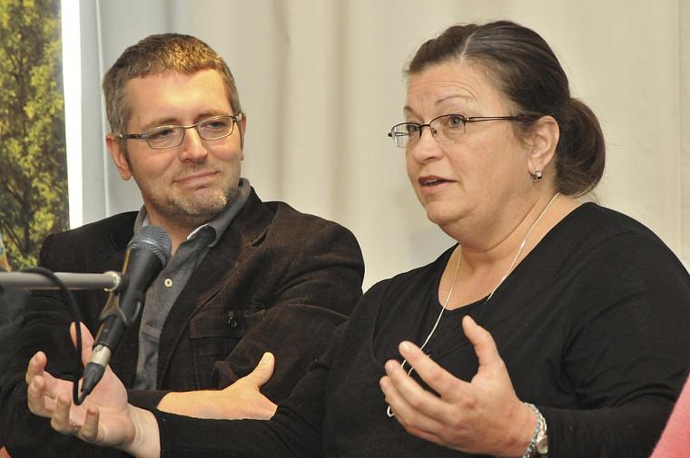 Stéphane Lavoie, professeur et infirmier, et Sylvie Bédard, infirmière au CHUS.