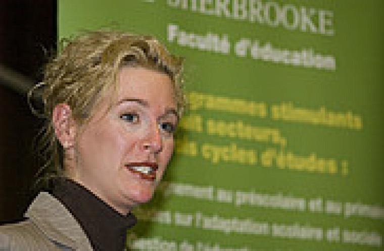La titulaire de la Chaire, la professeure Marie-France Morin.