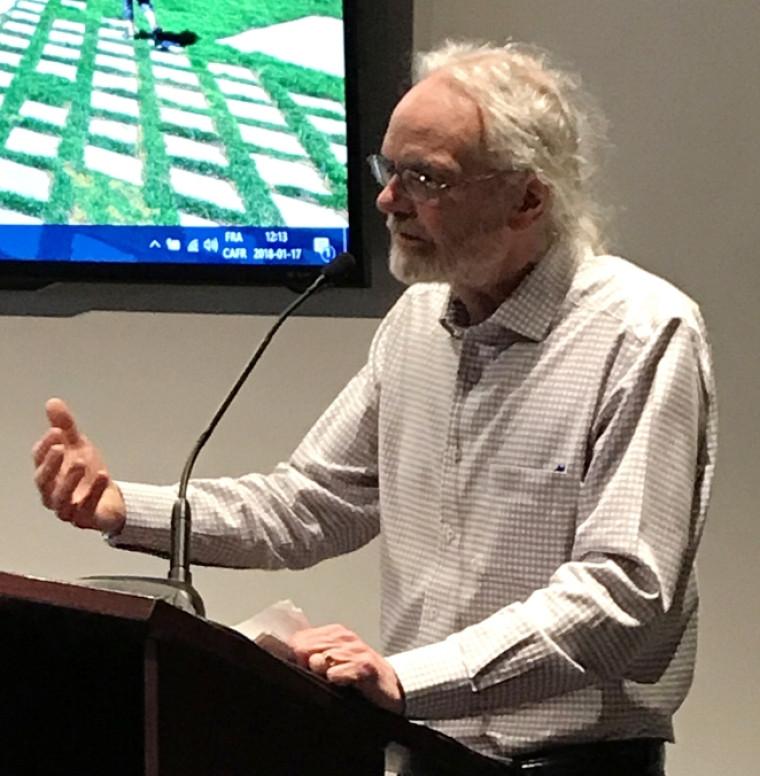 Le professeur Paul Morin, président d'honneur de Réflexe citoyen 2018