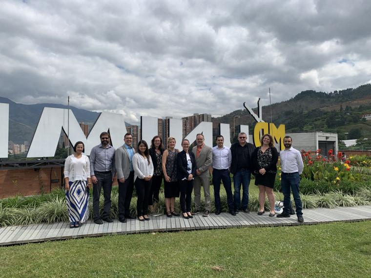 La délégation de l'UdeS au campus Bello de l'Uniminuto à Medellín