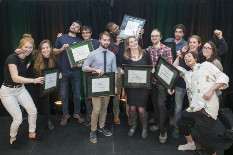 Les lauréats des prix d'honneur du Défi étudiant 2018.