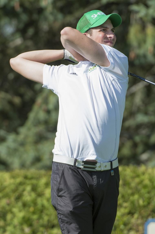 Martin Blanchard et ses coéquipiers du Vert&Or ont pris le 9erang au terme du Championnat RSEQ, qui a eu lieu du 29septembre au 1eroctobre au Club de golf Milby.