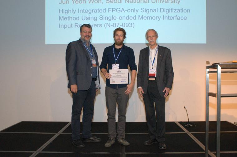 Samuel Parent, étudiant au doctorat en génie électrique, récipiendaire de la 2eplace pour la meilleure communication orale (sciences nucléaires).