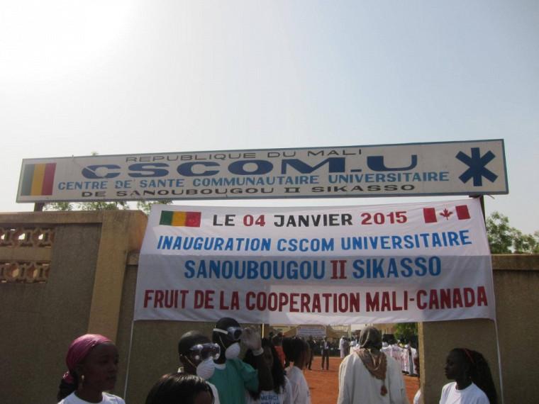 L'inauguration du Centre de santé communautaire à vocation universitaire deSanoubougou II.