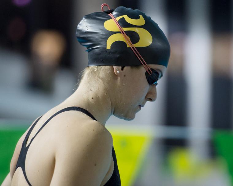 La nageuse étoile du Vert & Or Simonne Couture.