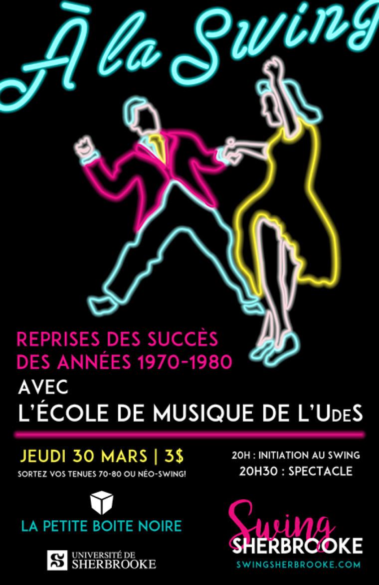 Soirée de danse swing le 30 mars prochain!