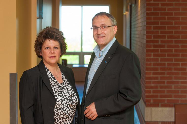 Sylvie Berthelot et Michel Coulmont, professeurs au Département de sciences comptables de l'École de gestion