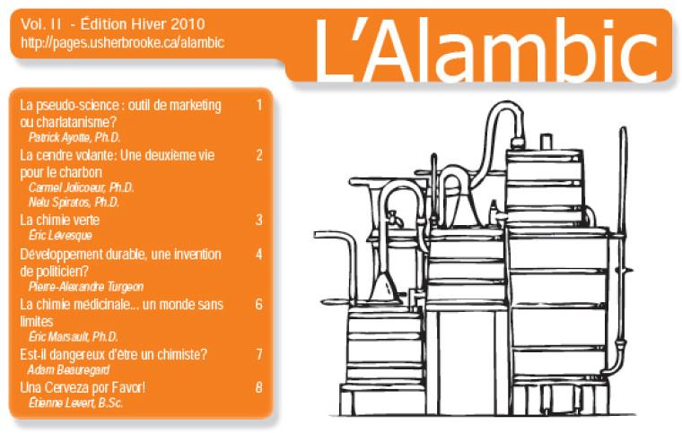 Couverture de l'Alambic, vol II hiver 2010 (extrait)