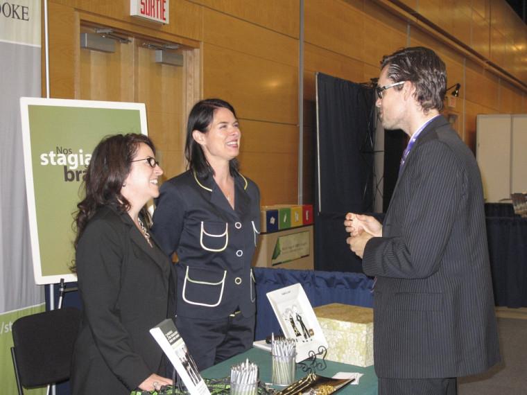 Le kiosque de la Faculté de droit et du SSP lors du Congrès 2012.