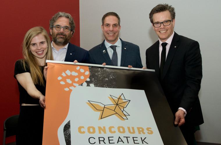 Le Concours Createk – Famille J.R. André Bombardier, en entrepreneuriat.