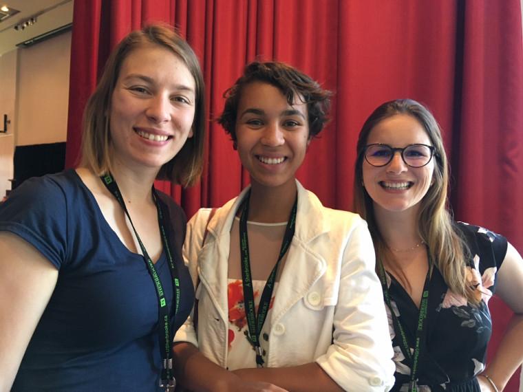 Les étudiantes derrière l'organisation de la Conférence Femmes en physique Canada 2018.
