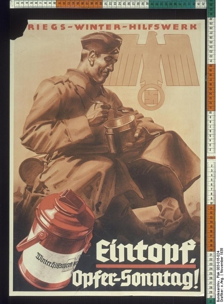 Cette affiche de propagande nazie fait la promotion de l'eintopf.