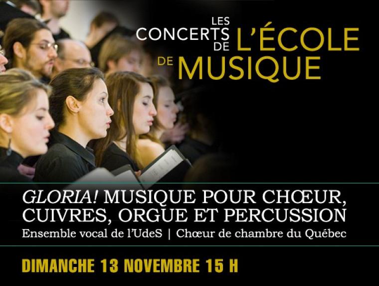 La musique sacrée est au rendez-vous du premier concert de la saison de l'Ensemble vocal de l'UdeS.