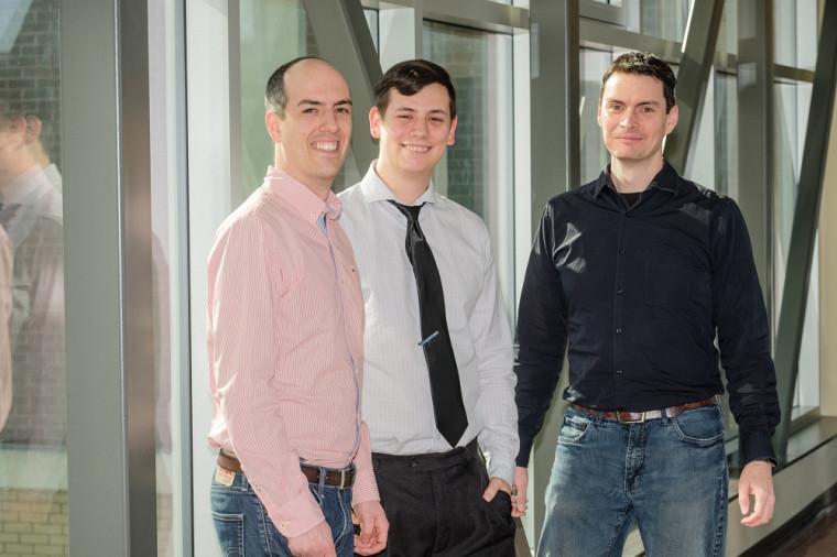 Les fondateurs de TATUM bioscience, Jean-François Millau, Kevin Neil et Pr Sébastien Rodrigue.