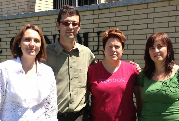Sophie Gagnon, neuropsychologue; François Corbin, médecin et chercheur; Sylvie Auger, coordonnatrice de recherche; et Artuela Çaku, étudiante à la maîtrise.