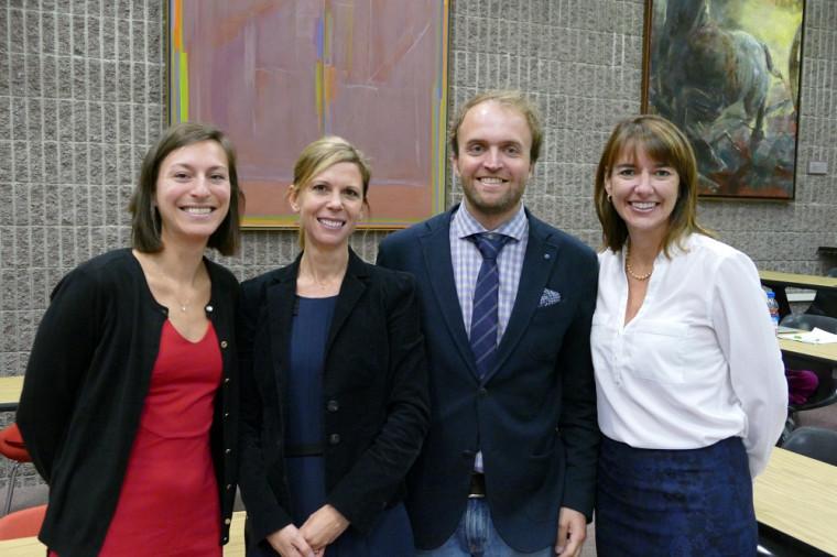 Le comité organisateur du colloque : David Pavot et les professeures Marie-Eve Couture Ménard, Mélanie Bourassa Forcier et Anne-Marie Savard.
