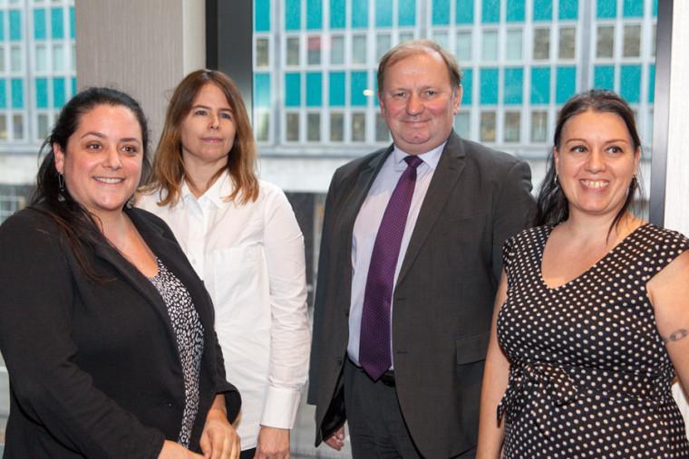 Pre Sophie Dupéré (Université Laval),Pre Christine Loignon, M. Dainus Pūras,Rapporteur spécial des Nations Unies sur le droit à la santé,Mme Caroline Leblanc, professionnellede rechercheà la FMSS.