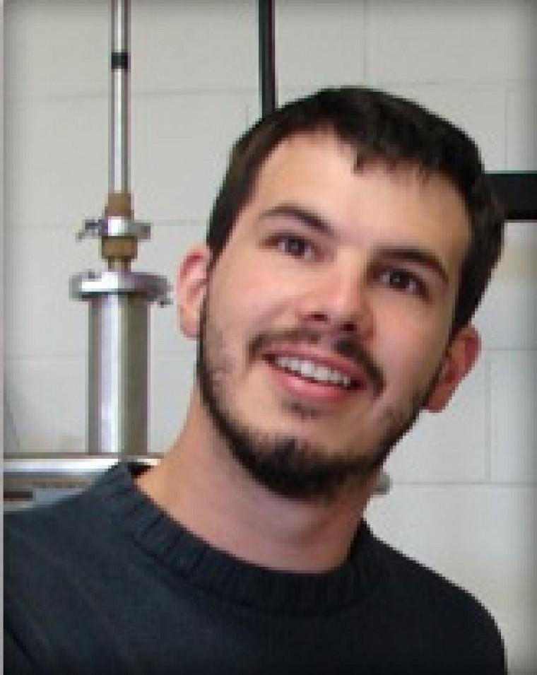 David Le Boeuf, récipiendaire du prix de la meilleure thèse de doctorat 2010 dans le secteur sciences naturelles et génie.