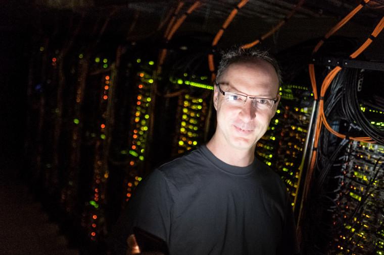 Michel Barrette, analyste de systèmes au Centre de calcul scientifique.