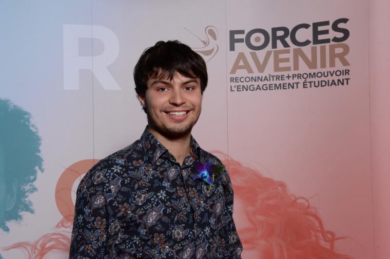 L'étudiant en génie Justin Brûlotte, finaliste dans la catégorie Personnalité 1er cycle.