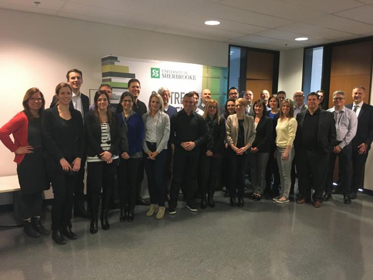 L'équipe du Centre Laurent Beaudoin s'est réunie pour accueillir les gestionnaires de la Ville de Longueuil lors du premier cours de la formation sur mesure.