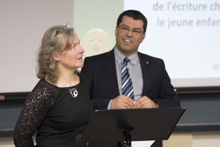 Pour l'occasion, le doyen invitait la professeure Hélène Guy, l'une des instigatrices des Prix d'excellence en éducation, à animer avec lui.