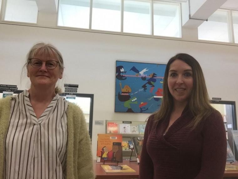 Bénédicte Fache, commis de bibliothèque, et Isabelle Boutin, technicienne en documentation au CRP