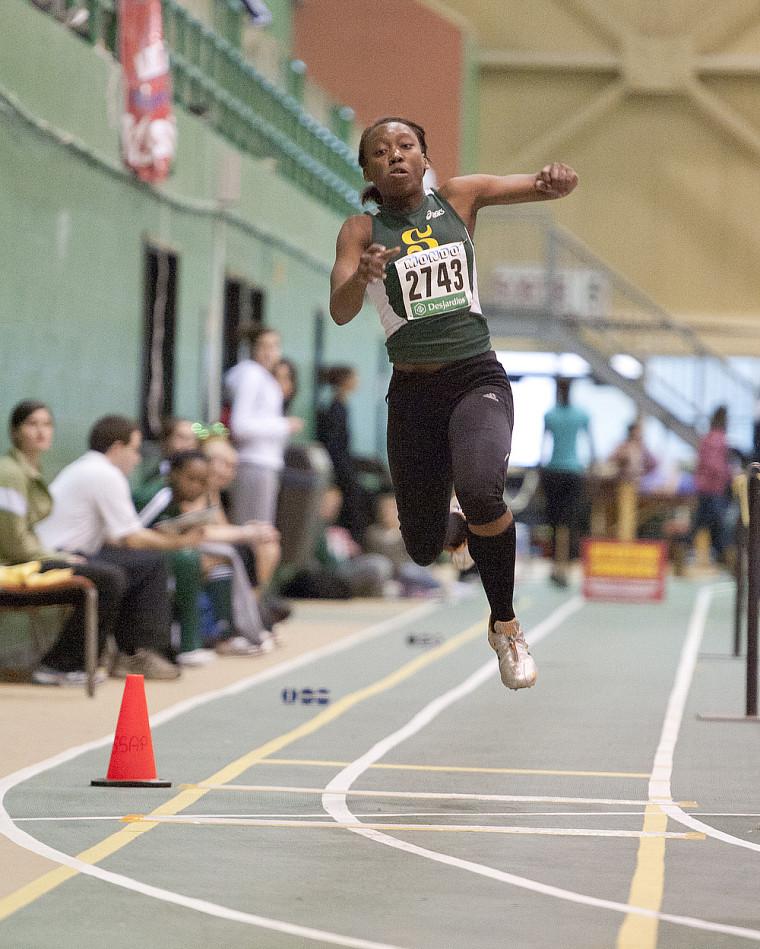 Valérie Kodo a réalisé un nouveau record du Vert&Or avec un bond de 12,36m au triple saut.