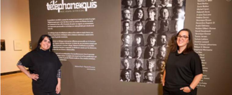 Mélanie Noël, diplômée de l'École de gestion et Pascale Rousseau, employée au Service des communications.