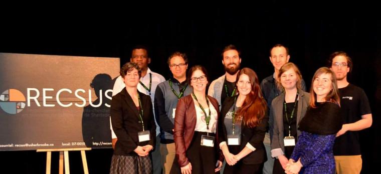 Les conférenciers et l'équipe organisatrice du Forum du RECSUS 2017.