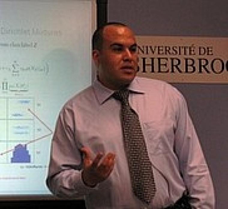 Sabri Boutemedjet, étudiant au Département d'informatique de la Faculté des sciences.